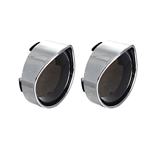 2006 Harley Davidson Sportster - NTHREEAUTO Smoked Bullet Turn Signal Light Lens Cover with Chrome Visors Compatible with Harley Dyna Street Glide Road King