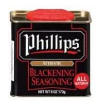 Phillips Blackening Seasoning - 6 oz. can, 12 per case
