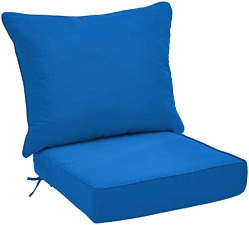 Amazon Basics Deep Seat Patio Seat and Back Cushion Set