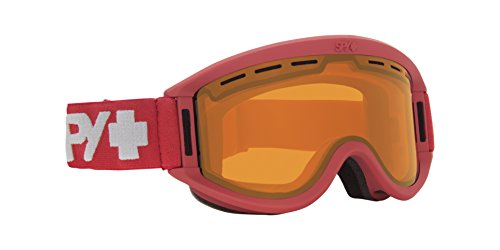 Spy Optic Getaway 313162202185 Snow Goggles, One Size (Matte Burgundy Frame/Persimmon Lens) (Spy Red Bag)