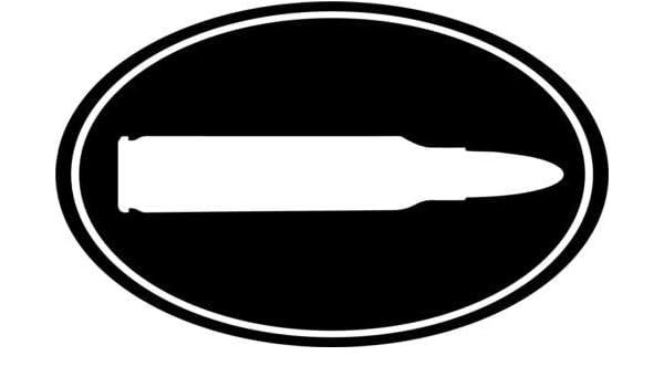 2 .38 CALIBER BULLET OVAL DECALs Sticker Die Cut For Car Window Bumper RV Truck