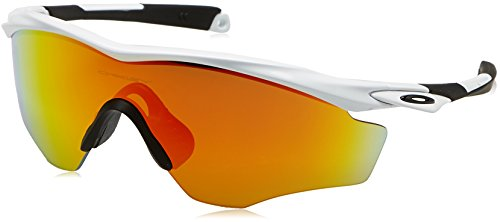 Oakley Men's M2 Frame XL OO9343-05 Non-Polarized Iridium Shield Sunglasses, Polished White, 145 - M2 Oakley