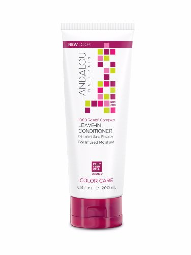 Alba Leave In Conditioner - Andalou Naturals 1000 Roses Complex Color Care Leave-In Conditioner, 6.8 Ounce Bottle