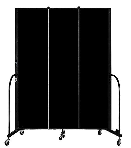 Screenflex Welding Screen, 7.3' x 5.75', Black by Screenflex