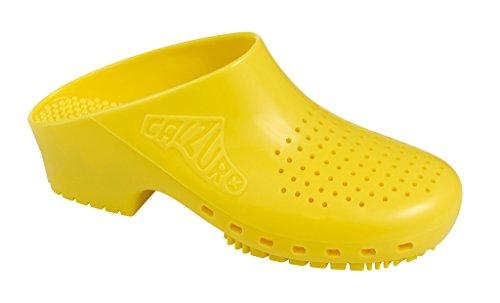 Calzuro Autoclavable Clog Con Ventilación Superior Amarilla