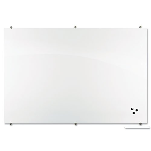 Best-Rite - Visionary Magnetic Glass Board, Frameless, White Glossy, 24'' x 18'' x 1/8'' 83842 (DMi EA by Best-Rite