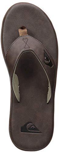 Quiksilver Men's Haleiwa Plus Nubuck Flip-Flop, Brown, 10(43) M US
