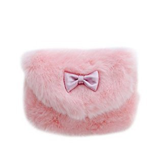 Girls Princess S Toddlers Fashionable Fun and Preschoolers Pasabideak for Handbags Handbag Girls Fuzzy Light Cute Little Floral Pink Girls Small Onwq6Tw5