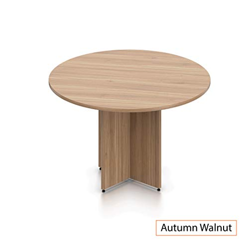 GOF 48'' Round Table (48W x 48D x 29.5H), Cherry, Espresso, Mahogany, Walnut (Walnut 5-Piece Table Set) by GOF (Image #2)