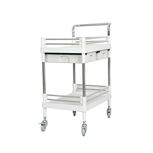 ALUS- Silent Double-Decker Flatbed Truck Handling Trolley Multi-Layer Instrument Truck Office Tool Cart Light Weight Corrosion-Resistant