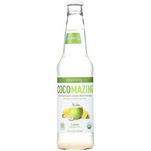 UPC 861053000177, Cocomazing Organic Limon Sparkling Coconut Water, 12 Fluid Ounce -- 12 per case.