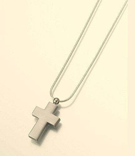 Pewter Cross Pendant Cremation Pendant with a Satin Finish Attractive Black Velvet Gift Box