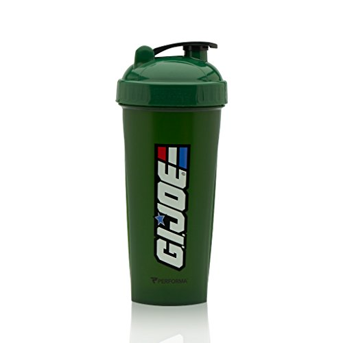 Performa Perfect Shaker - GI JOE Series, Best Leak Free Bottle With Actionrod Mixing Technology For Your Sports & Fitness Needs! Dishwasher and Shatter Proof (GI JOE Green)