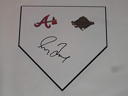 Greg Maddux Signed Home Plate Atlanta Braves 1995 World Series Proof Rare - MLB Autographed Miscellaneous Items