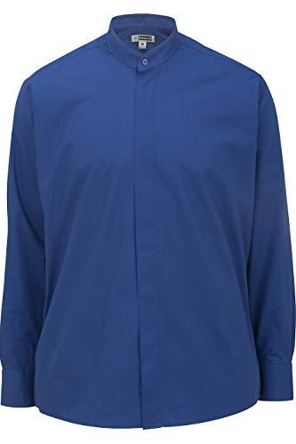 Edwards Men's Banded Collar Shirt Medium Royal Blue