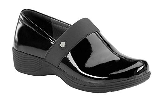 Work Wonders by Dansko Women's Camellia Slip Resistant Shoe- Black Patent- 37 M EU (6.5-7 US)