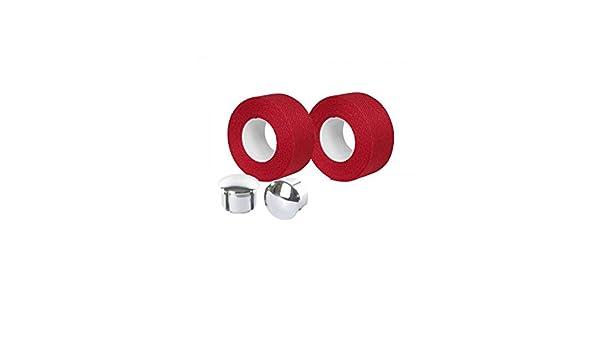 Motodak Cinta de Manillar Velox Trenzado 90 algodón Rojo 20 mm x 2 ...