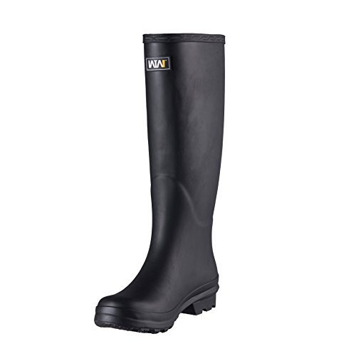 WTW Women's Knee High Rain Boots Size 8 (Black) ()