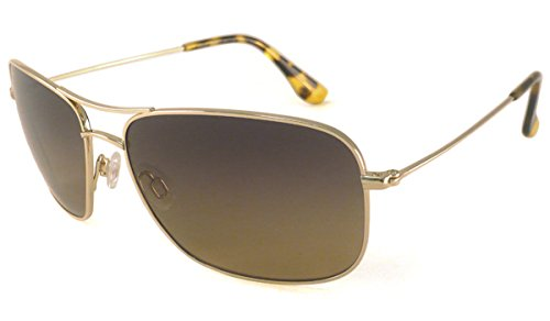 Maui Jim Sunglasses - Wiki Wiki / Frame: Gold Lens: HCL Bronze Polarized