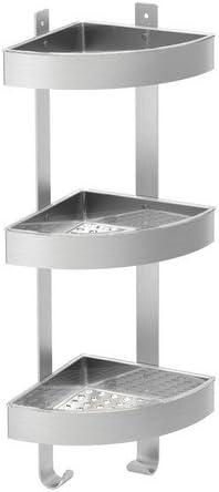Ikea GRUNDTAL - Corner estantería de Pared, Acero Inoxidable ...