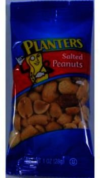 Planters Salted Peanuts [96 Pieces] *** Product Description: 1 Oz In Sealed Package. Ingredients: Peanuts, Peanut And/Or Cottonseed Oil, Sea Salt. Manufactured On Equipment That Processes Tree Nuts. ***