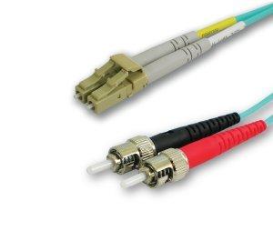 FIBER OPTIC PATCH CABLES LC/ST 10GIG OM4 2F DUPLEX 5M ERIKA - 5 Erika