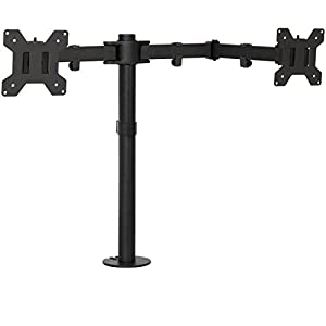 Best Choice Products Adjustable Desk Dual LCD Monitor Stand Mount Screen Up To 27""