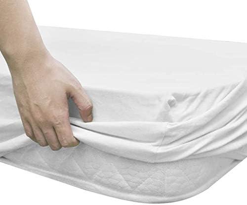 Drap-housse pour berceau 4 pièces en jersey de coton blanc 70 x 140 cm