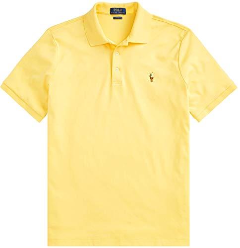Polo Ralph Lauren Mens Medium Fit Interlock Pony Shirt- FallYellow -Large