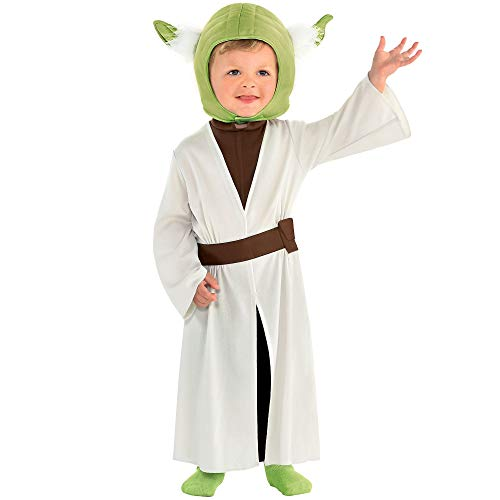 Yoda Girl Costume (Party City Yoda Halloween Costume for Babies, Star Wars, 12-24 Months, Includes)