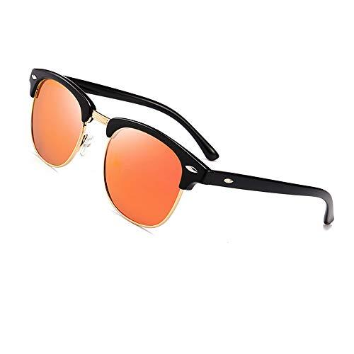 Bleu rétro Rimless demi Natwve Semi Noir Co Noir de soleil polarisée soleil lunettes clair Clair lunettes Wayfarer monture hommes femmes de amp; Classique Noir 8r6n8Bq