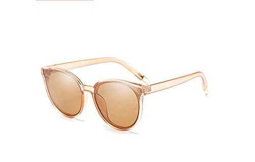 Frame Polarizadas Round Tea Driving Uv Sol Polarized Face Glasses De Driver Gafas Liwenjun w6qPFF