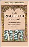 Front cover for the book Rigoletto: Complete Italian Libretto (Dover Opera Libretto Series) (English and Italian Edition) by Giuseppe Verdi