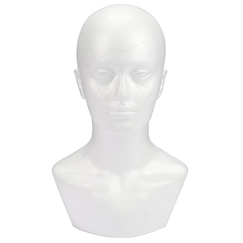 Styrofoam Foam Mannequin wig Head display 15