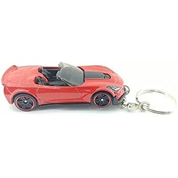 Amazon.com: Corvette Licensed Round Logo Silicone Keychain ...