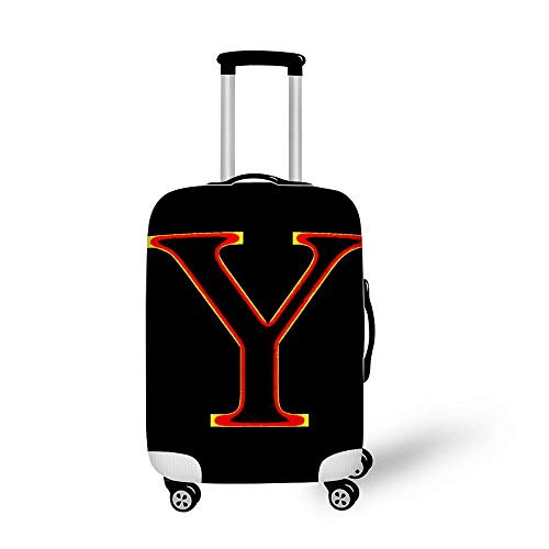 Fire Font Letter Y Fashionable Baggage Suitcase Protector Travel Luggage Cover Anti-Scratch