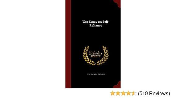 Amazon com: The Essay on Self-Reliance (9781297528965): Ralph Waldo