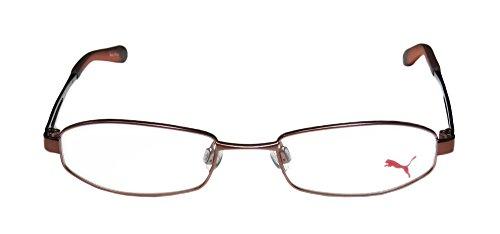 Puma 15336 Serenity Mens/Womens Designer Full-rim Eyeglasses/Eyewear (50-18-135, Brown) - Puma Silver Sunglasses