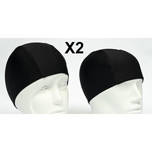 Emerpack 2x Bonnets de Bain en Tissu Lycra Bonnet de Natation Pour Adulte cee5a127fb6