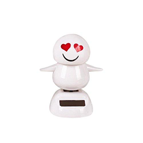 Ratchet Girl Halloween Costume (Christmas Snowman Solar Powered Shaking Head Dancing Animal Swinging Car Decor Emoji,Sulear White A)