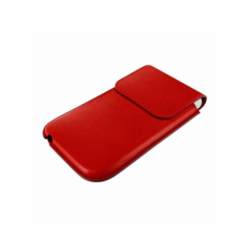 Piel Frama 597RED Unipur Ledertasche für Apple iPhone 5/5S/5C rot