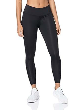 2XU Women's Mid Rise Compression Tights, Black/Black, Extra Small