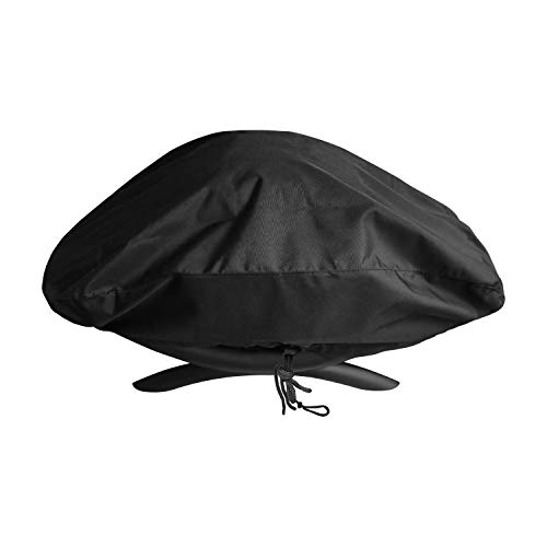 SunPatio Outdoor Portable Grill Cover for Weber Q 100/1000 Series Gas Grills, Waterproof Barbecue Cover, Compared to Weber 7110, Black
