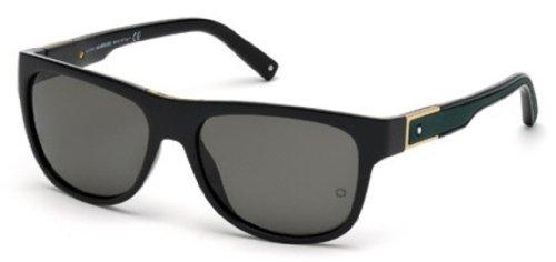 MontBlanc Men's MB459S Injected Sunglasses BLACK - Mens Blanc Sunglasses Mont