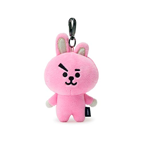 BT21 Official Merchandise by Line Friends - Cooky Character Doll Keychain Ring Cute Handbag Accessories