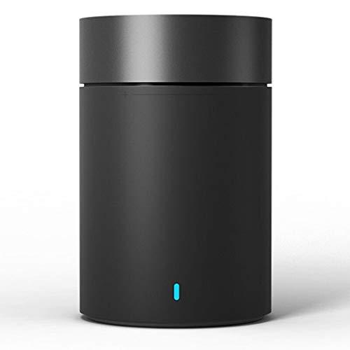 RENJUN Stylish Bluetooth Wireless Audio Mini Wireless Portable Speaker, 60 × 60 × 93.3mm Speaker (Color : Black)