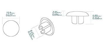 KiWAV Magazi motorcycle round bolt cap screw cover plug for 10mm thread bolts allen key M8