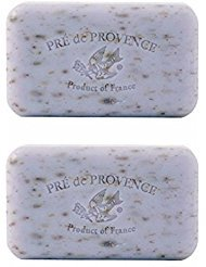 Pre De Provence Lavender Soap, 150g wrapped bar. Imported from France (Pack of (150g Soap)