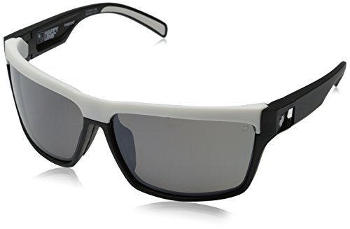 Spy Optics Cutter Matte Black/white Wrap Polarized Sunglasses,Black,65 - Track Eyewear Fast