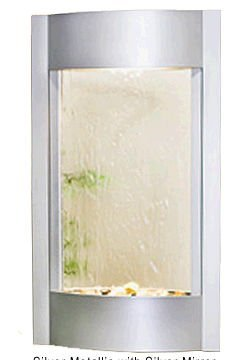 Adagio Serene Waters With Silver Mirror in Silver Metallic Finish Fountain by Adagio Water Features